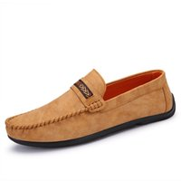 aa classic - new fashion slin on style men s boat shoes micro leather two classic colors grey brown flat loafers for driving