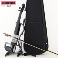 Wholesale High quality Black violin Send violin Hard case Handmade white electric violin with power lines and violin parts