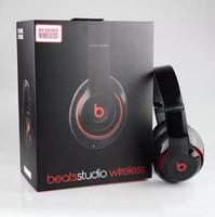Wholesale Beats Studio Wireless Headphone Refurbished Bluetooth Headset Noise Cancel Headphones Headset with seal retail box Studio Headphones
