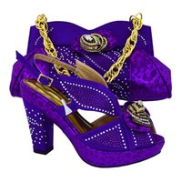 adhesive stones - NEW ARRIVAL by DHL Shoes and Bag Italian design Shoes and Bag with many shine stone match dress purple