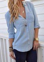Wholesale Turndown Collar Long Sleeve Curved Shirt