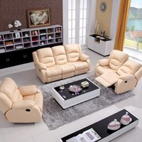 Wholesale Modern Design luxury modern reclining sofas Chair love seat Set Genuine leather recliner sofa