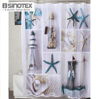 Wholesale New Arrival Shower Curtain Polyester Terylene Seascape Waterproof Bathing Room Curtains cm cm