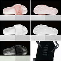 beach sandal womens - With Box dust bag Drop Shipping Famous Leadcat Fur Slides Pink Black White Slide Sandal Womens Sandals Sz