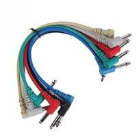 Wholesale 6 Guitar Pedal Effect Cables Multicolor PVC metal guitar cable High quality Audio link cable