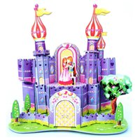 best birthday presents - Beauty Purple Castle Puzzles Model Toys for Childrens Birthday Present Best Cheap Luxury D Buildings Puzzle Brain Game A076