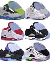 2016 nuevos zapatos de baloncesto retros de la alta calidad 5 de la llegada saltan la zapatilla de deporte de los hombres 5 para el tamaño de los zapatos de los hombres: 7-13 Envío libre