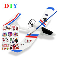 airplane delivery - 2016 Christmas Gift DIY Airplane Glider Craft Made of EPP Material Easy Assembled Children s Educational Toys Fast Delivery