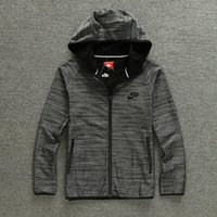 Wholesale 1 Brand jacket Spring new leisure sports men hooded sweater long sleeved jacket teenagers solid color hoodies Black Gray