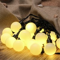 Wholesale AC220V V W M LED Ball string lamps Colorful Christmas tree light Holiday Wedding Party Garden Decoration With END Plug