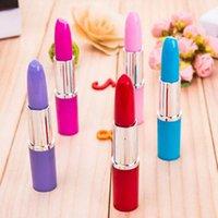 Wholesale 20pcs Lipstick Shape Ballpoint Pens Writing Pens Children Prize Gifts Carry Convenience Writing Supplies Papelaria