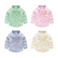 banana candy - New Cute Kids Boys Fashion Shirts Banana Print Candy Color Fall Tops Cotton Blouse