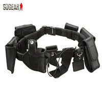 belt support system - in Outdoor Multifunctional Tactical Belt Security Guard Utility Kit Nylon Waist Belt System Black With Holster Pouch Bags