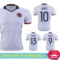 colombia - Colombia jersey Colombia white JAMES FALCAO CUADRAD Soccer Jersey Camisa Colombia Thai Quality