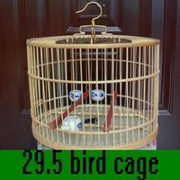 bamboo bird cages set - bamboo handmade bird cage round cage full set cage clothing