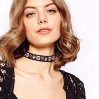 Colliers bib Prix-Nouveau collier de chocker de déclaration de bavoir de collier de costume de collier de collier de garrot de style de Bohemia de conception de Z de la vente Z de NSE965