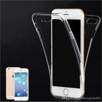 Wholesale For iphone clear case Degree Front Back Clear Transparent TPU Cover Case For iPhone S Plus S Soft Shockproof Phone Cases