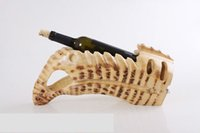 bamboo root crafts - bamboo root carving wine bottler hoder home decor art craft