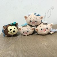 bad baby gifts - 1pc Set Tsum Tsum THREE LITTLE PIGS Big Bad WOLF quot Plush Doll Mini Toy Screen Cleaner Baby toy New for gift
