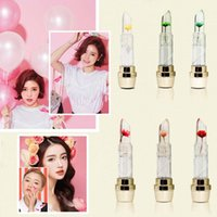 Wholesale 6 Colors Jelly Flowers Lipstick Color Changing Lip Gloss Moisturizing