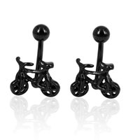 belly button stud - Vintage Bicycle Design Belly Button Body Piercing Earrings Jewelry for Men and Women SE00632