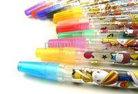 Wholesale Blink Glitter Fruits Scent Pen super fruits scent cartoon blink pen ballpoint pen Color