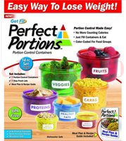 Wholesale preservation box Perfect Portions Portion Control Containers Food Storage Easy Way To Lose Weight Using Portion hot sell LJJH1433