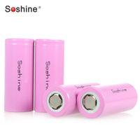 Wholesale Soshine set IFR V A mAh Rechargeable Flat Top Battery Smart LiFePO4 Environmentally Friendly Battery