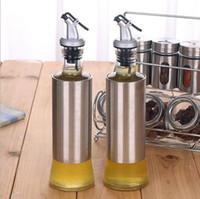 Wholesale Kitchen oiler leakproof glass oil bottle oiler Kitchen unleaded glass cruet oiler