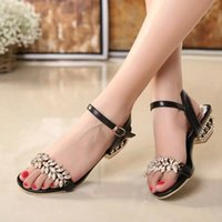 b lights crystals - 2016 women s sandals crystal with cutout sandals hasp rhinestone open toe female