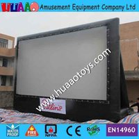 airblown inflatable screen - Commercial PVC rear projection screen with airblown PVC inflatable frame by DHL to door
