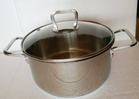 Wholesale 20cm Stainless Steel Tri ply Stockpot hot sales thick bottom cooking food steamer stockpot