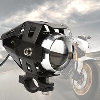 Wholesale Autobike W lm Cree U5 U7 Motorcycle Led Light Fog lamp With Lens Headlight Flash Spotlight