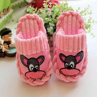 Wholesale Children s cartoon cute cotton slippers boys girl big mouth monkey children slippers baby Spring Autumn winter cartoon slippers kids home