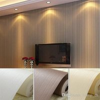 Wholesale Top Quality Fabric Mural wallpaper modern striped flock wall paper papel de parede tapete bedroom white beige coffee x1000cm