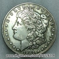 Wholesale 1884 O US Morgan Silver Dollar replica high quality g mm Brass plated with silver