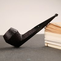 Cheap Authentic United Kingdom Dunhill imported briar pipe cigarette holder tobacco smoking bucket shell briar Bruyere Tobacco pipe DHL free