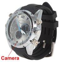Wholesale Hot GB Hd p Mini Waterproof Camcorders Camera Hidden Watch Spy DVR with Ir Night Vision