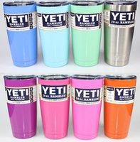 Wholesale 20 oz YETI Rambler Tumbler Cup Purple Pink Light Blue Orange Light Green Stainless Steel Tumbler Mug