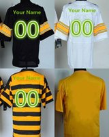 bell numbers - Customized Steelers jerseys cheap rugby football jerseys Pittsburgh ROETHLISBERGER BELL BROWN any name any number freeshipping