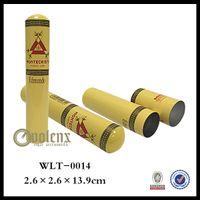aluminum travel humidor - Montecristo Travel Cigar Tube Cedar Wood Lined Packing Aluminum Holder MINI Humidor Case