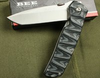 Enlan bee carbon fiber - ENLAN BEE L01 Magnum Tactical Folding Knife Steel Cr13Mov Micarta Camping Hunting Survival Pocket Knife Military Utility Clasp EDC Tools