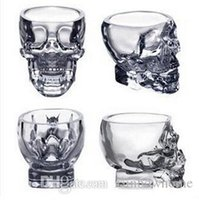 Wholesale Crystal Skull Head Vodka Shot Glass ml Glasses Mugs Cup Drinking Ware for Home Bar Party Creative Beer Wine Milk Whisky