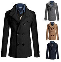 Wholesale Fall wish speed sell hot style of foreign trade new men woollen coat of cultivate one s morality long woolen cloth trench coat
