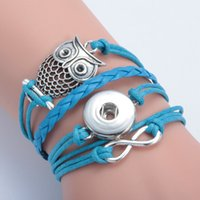 antique turquoise jewellery - Antique Charm Giraffe Owl Infinity Braided Leather Bracelets Fashion Wrist Bands Jewellery hy148