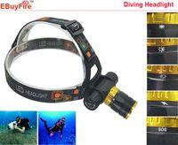 Wholesale new Diving led Headlamp Underwater head light Lumens CREE XM L T6 M Waterproof Diving Headlight Headlight