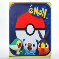 Wholesale Hot New Poke Go Pikachu Elf Ball Case PU Leather Stand Bags Pouch IPad Mini
