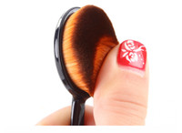 Wholesale Power Makeup Brush Beauty Oval Cream Puff Cosmetic Toothbrush shaped foundation brush Blend Tools Face Powder Blusher