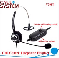 Wholesale Professional Anti noise Call Center Telephone Headphone headset with RJ09 Plug with Volume Control and mute function