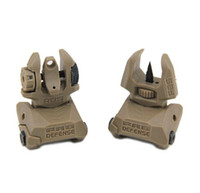 Wholesale Defense FBS RBS Rear and Front Dual Aperture Back Up Sights Set Dark Earth